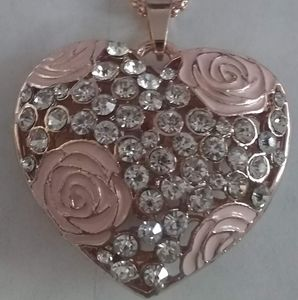 Betsey Johnson Jewelled Heart Necklace Pendant